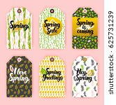 hello spring gift labels.... | Shutterstock .eps vector #625731239