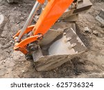 Excavator Red Arm With Steel...