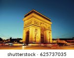 arc de triomphe and street view ... | Shutterstock . vector #625737035