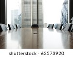 view of boardroom table with... | Shutterstock . vector #62573920
