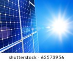 renewable  alternative solar... | Shutterstock . vector #62573956