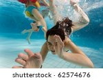 Children Swim In The Water Par...
