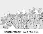 illustration of crowd... | Shutterstock .eps vector #625751411