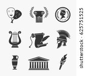 set symbol greece vector... | Shutterstock .eps vector #625751525