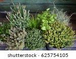 small spice herb garden on a... | Shutterstock . vector #625754105