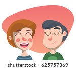 funny couple  happy people ...   Shutterstock .eps vector #625757369