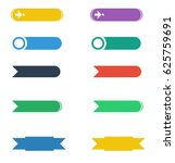 colorful long round buttons | Shutterstock .eps vector #625759691