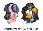 winter layout clothes isolated... | Shutterstock . vector #625783835