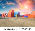 industrial container yard for... | Shutterstock . vector #625788995