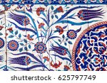 ancient ottoman patterned tile... | Shutterstock . vector #625797749