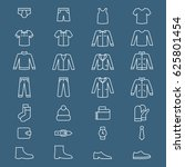 set of men clothes and...   Shutterstock .eps vector #625801454