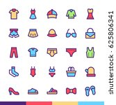 clothing   accessories... | Shutterstock .eps vector #625806341