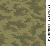seamless camouflage pattern.... | Shutterstock .eps vector #625806431