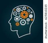 head with gears | Shutterstock .eps vector #625810235