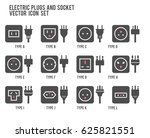electric outlet illustration.... | Shutterstock .eps vector #625821551