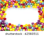 Frame Made Of Colorful...