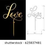 die cut cake topper. laser cut... | Shutterstock .eps vector #625837481
