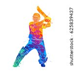 abstract batsman playing... | Shutterstock .eps vector #625839437