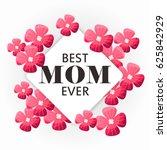 beautiful floral banner.... | Shutterstock .eps vector #625842929