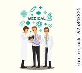 medical doctors team meeting | Shutterstock .eps vector #625843325