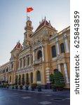 city hall in ho chi minh city | Shutterstock . vector #625843859