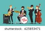 jazz band. vector illustration. | Shutterstock .eps vector #625853471