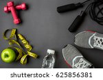 athlete's set with female... | Shutterstock . vector #625856381