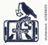 social network tattoo art... | Shutterstock .eps vector #625858055