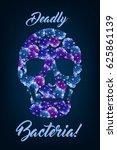 probiotics bacteria human skull ...   Shutterstock .eps vector #625861139