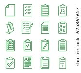clipboard icons set. set of 16... | Shutterstock .eps vector #625862657