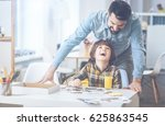 father and son having fun... | Shutterstock . vector #625863545
