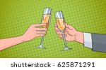 couple hands clinking glass of...   Shutterstock .eps vector #625871291