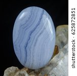 Small photo of Blue lace agate, natural, gemstone, rock