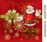christmas gift santa claus on a ... | Shutterstock .eps vector #62587558