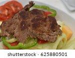 steak beef grill roast salad | Shutterstock . vector #625880501