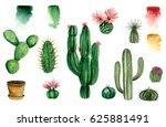 Set Of Watercolor Cactus ...