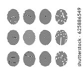 finger print icons big set... | Shutterstock .eps vector #625886549
