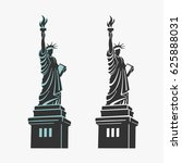 new york statue of liberty... | Shutterstock .eps vector #625888031