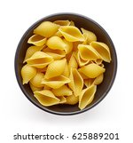 shell pasta in bowl  isolated... | Shutterstock . vector #625889201