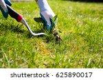 manual weed control. a garden... | Shutterstock . vector #625890017