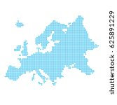 europe made of dots   Shutterstock .eps vector #625891229