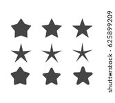 set of stars with different... | Shutterstock .eps vector #625899209