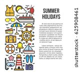 summer holiday cruise template... | Shutterstock .eps vector #625908461