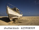an old  abandoned fisher's boat ... | Shutterstock . vector #625908509