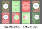 template brochures rococo  | Shutterstock .eps vector #625921001