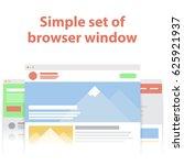vector set of flat website...