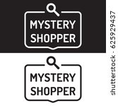 mystery shopper. badge icon.... | Shutterstock .eps vector #625929437
