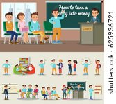 colorful coaching characters... | Shutterstock .eps vector #625936721