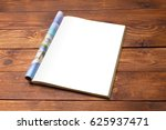 blank book or magazine cover on ... | Shutterstock . vector #625937471