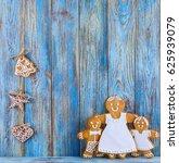 gingerbread  gingerbread men on ... | Shutterstock . vector #625939079